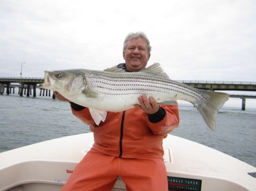 Skip Powers shows off a nice CBBT striper
