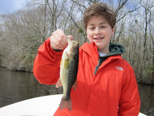 Connor adds to his species list with this colorful bass