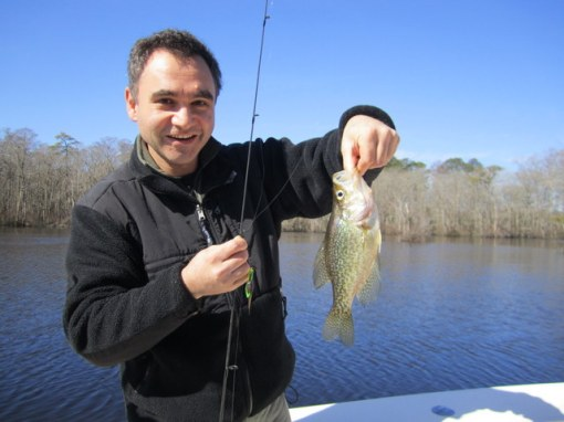Hovik Taymoorian shows off a nice crappie