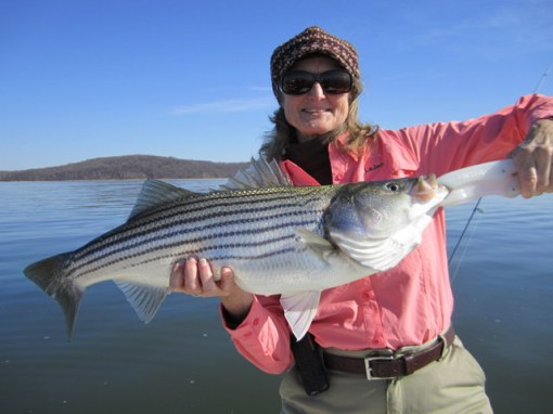 LaJan of CWA with a big striper