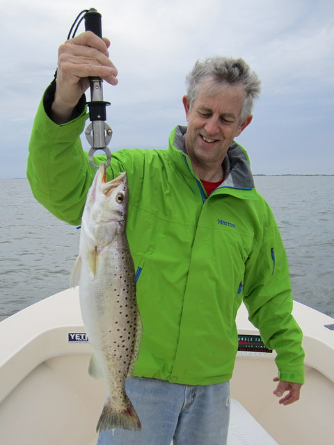 Rob Leatherbury braved the wind to land this fat speck